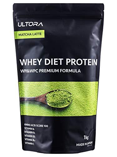 ULTORA ホエイプロテイン 抹茶ラテ風味 1kg ウルトラ ホエイダイエットプロテインプレミアム