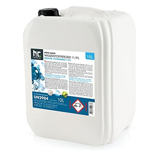 1 x 10 L peroxyde d'hydrogéne 11.9% - FRAIS DE PORT OFFERT - qualité technique - en bidon de 10 L
