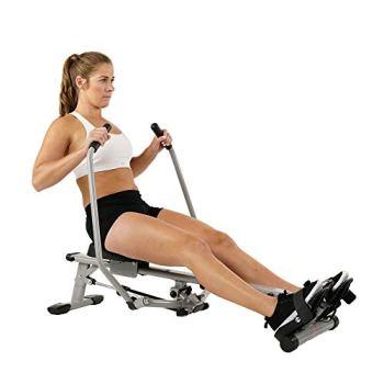 Sunny Health & Fitness SF-RW5639 Rameur Mixte Adulte, Argenté