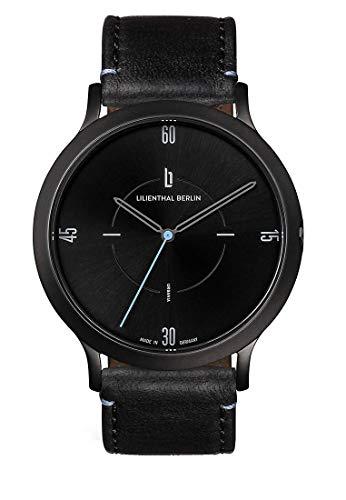 Lilienthal Berlin Urbania Unisex Armbanduhr (Gehäuse: schwarz/Zifferblatt: schwarz/Armband: Leder schwarz)