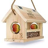 cuore di animali selvatici | Mangiatoia per Uccelli, Realizzato in Legno Naturale, Non trattato - Casetta per Gli Uccelli da Appendere in Giardino o sul Balcone