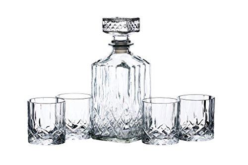 BAR CRAFT Set Decanter e Bicchieri da Whisky in Vetro, 26 x 10 x 24 cm