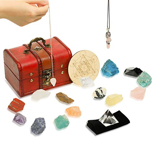 Soulnioi 18Pcs Crystals and Healing Stones Set (14 Therapy...
