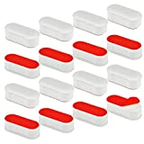 Toilet Seat Bumper Replacement Kit for Bidet with Strong Adhesive, 16 Pcs Topbuti Universal White Toilet Seat Bumpers Pads for Use with Bidets Stick On for Home and Hotel