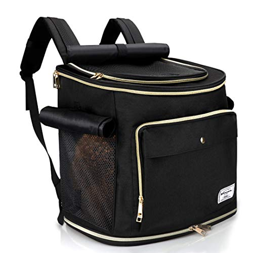 WINSUN ペットキャリーバッグリュック 犬キャリーバッグ 猫キャリーバッグ 3way仕様 通気性、安定性抜群 旅...