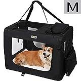 MC Star Borsa per Cane Portatile Pieghevole Trasportino per Cani Animali Domestici M 60 x 42 x 42 cm,Nero