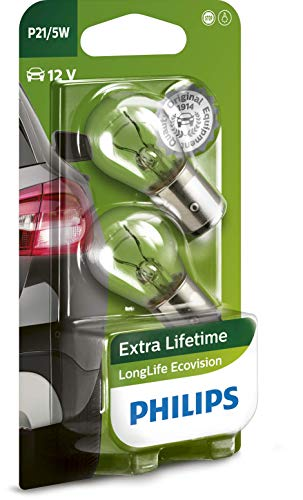 Philips automotive lighting 12499LLECOB2 Philips 12499LLECOB2-P21/5W LongLife EcoVision, Double...