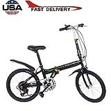 Leisure 20in 7 Speed City Folding Mini Compact Bike Bicycle Urban Commuters,Folding Bike Commuter 33lb Lightweight Aluminum Frame