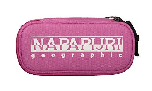 NAPAPIJRI Astuccio scuola portamatite portapenne articolo NP0A4EUF HAPPY PO 2 - cm. 23x12x4, PR1 Pink super, UNICA - ONE SIZE