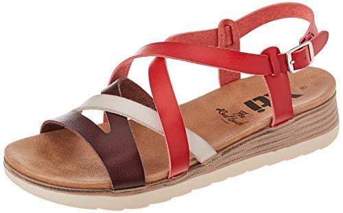 XTI 42715, Sandalia Mujer, Rojo, 38 EU