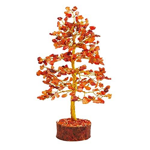 FASHIONZAADI Carnelian Stone Feng Shui Bonsai Money Tree for...