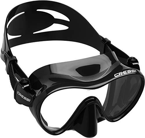 Cressi F1 | Scuba Mask | Colour : Black ~ Single Frame Lense