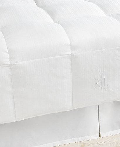 Lauren by Ralph Lauren Bronze Comfort White Stripe Down Alternative KING Comforter