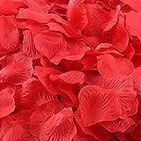 CHSYOO 1000 x Roses artificielles Feuilles Roses Fleurs confettis, Accessoires...