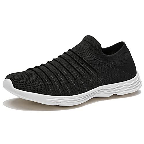 Zapatillas Casuales para Hombre Calzado Deportivo Bajas de Moda Sandalias de Verano Ligeras y Transpirables Negro 47
