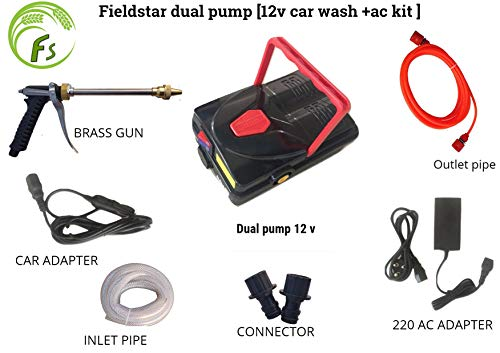 Fieldstar Dual High Pressure Washer Set-Mounted 12V Car (1)