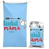 XCNGG Toalla de Playa de Microfibra, Baseball Mama Toalla de Secado rápido rápido Manta Toallas de baño Ligeras, absorbentes y Suaves sin Arena para Playa, baño, natación, Viajes