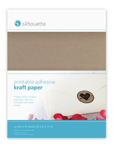 Silhouette Media-KFT-ADH Kraft Papel Adhesivo y Imprimible
