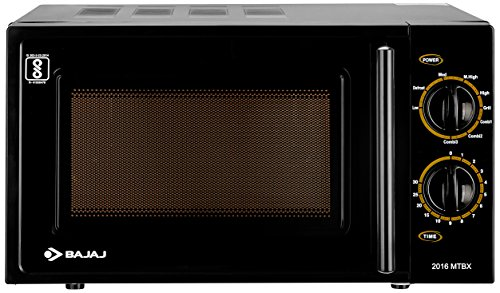Bajaj 20 Litres Grill Microwave Oven with Mechanical Knob (MTBX 2016, Black)