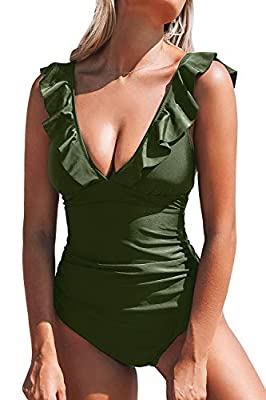 Fabric: 80% Chinlon, 20% Spandex Ruffled at hem, plunging neckline and Lace up at back About Cup Style: With Padding Bra Garment Care: Hand Wash and Hang Dry. Recommend with Cold Water. Do not Use Bleach. Body size: the size of a human body.Bra size ...