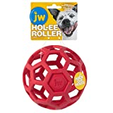Dog Chew Toy: The Hol-ee Roller is the Do It All Puzzle Ball; Made from soft, stretchy natural rubber that is great for gentle chewers and teething puppies; Tug it, fetch it, chew it or stuff it with toys and treats Entertaining and Enriching: This c...