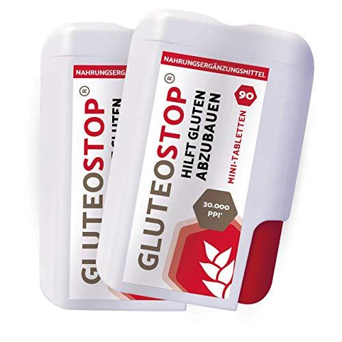 GluteoStop® - ayuda a descomponer el gluten - sensibilidad al gluten - dieta sin gluten - enzima gluten (180 mini tabletas)