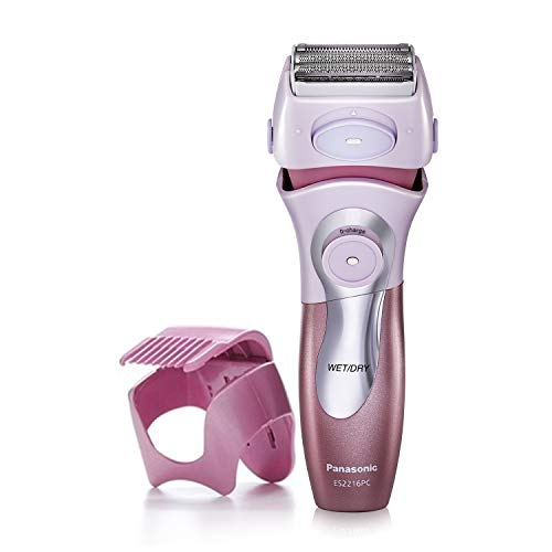 Panasonic Electric Shaver for Women, ES2216PC, Close Curves Electronic Shaver, 4-Blade Cordless Electric Razor with Bikini Attachment and Pop-Up Trimmer, Wet or Dry Shaver Operation