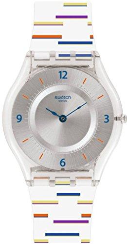 Swatch Damen Digital Quarz Uhr mit Plastik Armband SFE108