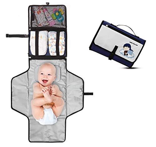 Crystal baby smile   Aankleedkussen   Waterdicht   Handige zijvakken   Hang hem aan de kinderwagen