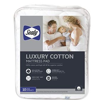 Sealy Luxury 100% Cotton Mattress Pad - Queen