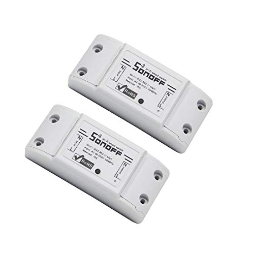 2 PCS SONOFF® Basic DIY Interruttore smart wireless WiFi con ricevitore HF, telecomando, smart timer, per case intelligenti