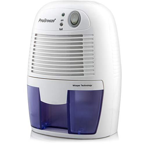 Pro Breeze Electric Mini Dehumidifier, 1200 Cubic Feet (150 sq ft), Compact and Portable for High Humidity in Home, Kitchen, Bedroom, Bathroom, Basement, Caravan, Office, RV, Garage with Auto Shut Off