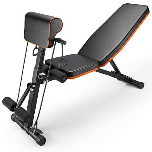 PERLECARE banco de musculacion, duradero banco de gimnasio, peso de...