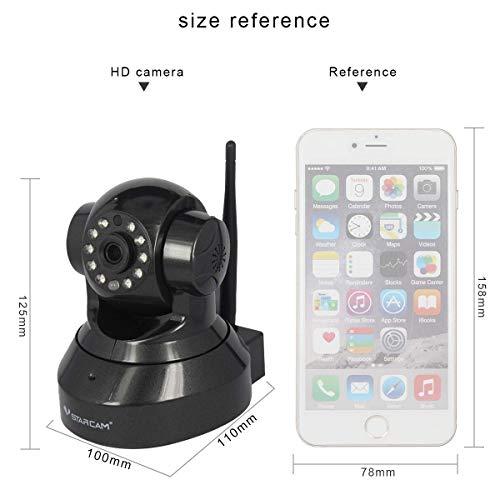 Product Image 1: Vstarcam C7837 Telecamera di sorveglianza domestica wireless 720P IP Microfono integrato con One Key WI-FI Configuration APP, Motion Detection, Remote View include scheda SD da 32 GB (nero)
