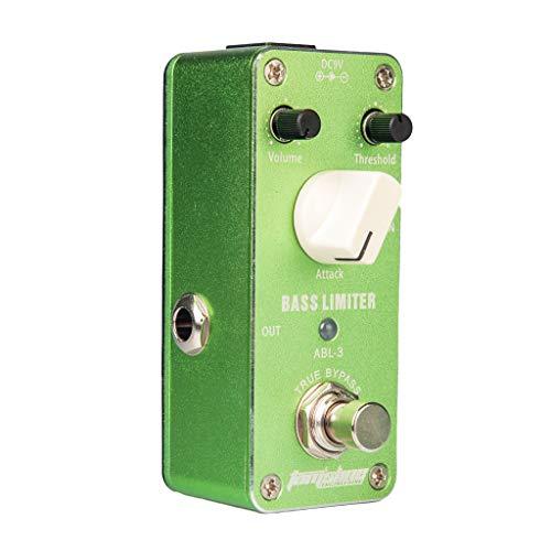 Guitar Effect Pedal Bass Limiter True Bypass Foot Switch, Green