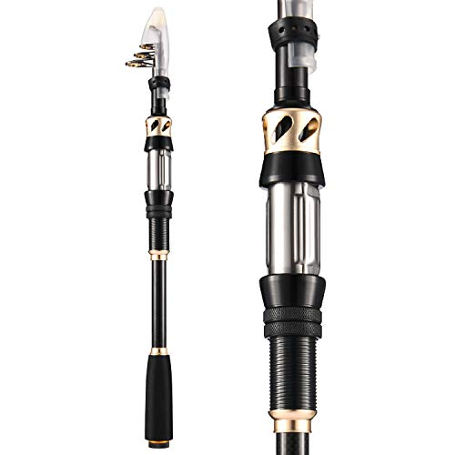Magreel Telescopic Fishing Pole, 24T Carbon Fiber Portable Collapsible Fishing Rod with Stainless...