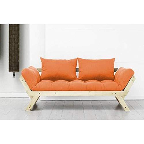 KARUP Divano meridiana Stile scandinavo futon Arancione Bebop Pelo 75* 200cm