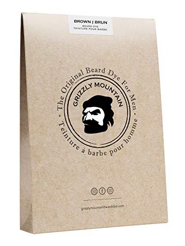 Grizzly Mountain, tintura biologica per barba, colore castano naturale (etichetta in lingua italiana non garantita)