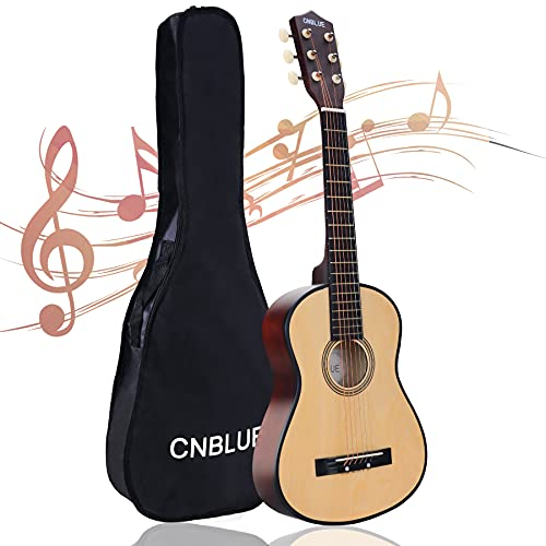 CNBLUE Acoustic Guitar Beginner Dreadnought Acoustic Guitar 30 inch Kids Guitar 1/2 Size Mini guitar Folk Small Guitar Steel Strings With Gig Bag (Natural)