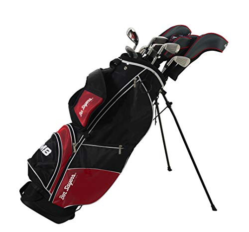 Ben Sayers M8 Package Golf Set Red Steel/Graphite (12 Clubs & Bag)