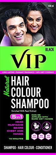VIP Hair Color Shampoo, Black, 400ml