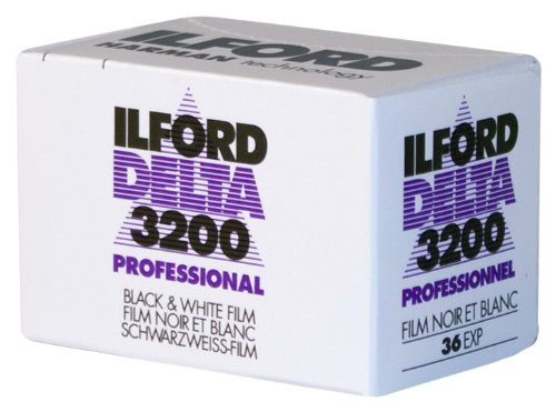 Ilford 1887710 DELTA 3200 Professional, Black and White Print Film, 135 (35 mm), ISO 3200, 36 Exposures