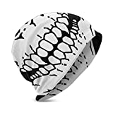 Lawenp Sombreros de Punto para niños, Skull Trendy Warm Skull Skull Hat Negro