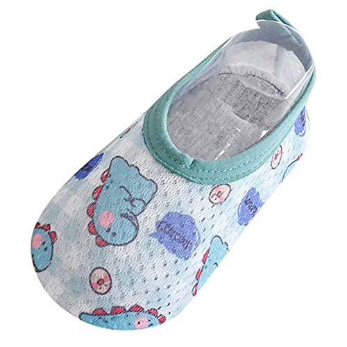 Calcetines Antideslizantes Bebe niño Zapatos Bebe Primeros Pasos para Recién Nacido Verano 2021 con Estampado con Punta Cerrada cómodos Antideslizante Zapato Feroz 0-24 Meses Zapatos niño bebé