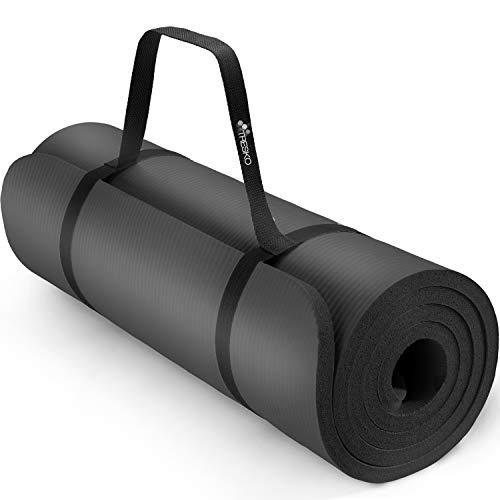 TRESKO® Tappetino per Yoga Pilates Tappeto Ginnastica Fitness Aerobica 6 Colori Diversi | Dimensioni 185cm x 60cm in 2...