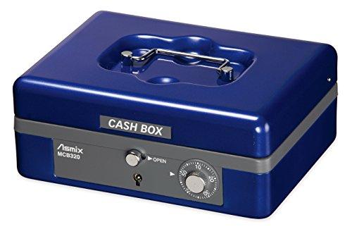 アスカ 手提金庫 MCB320 書類A6サイズ収納 ブルー