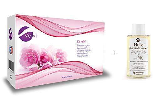 Kit Velvi - 6 Vaginal Dilatoren (1,2,3,4,5,6) + Süßes Mandelöl //