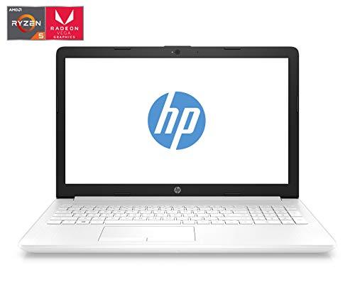 "HP 15-db0045ns - Ordenador portátil 15.6"" HD (AMD Ryzen 5-2500U, 12GB RAM, 256GB SSD, AMD Radeon Vega 8, Windows 10) Color Blanco - Teclado QWERTY Español"