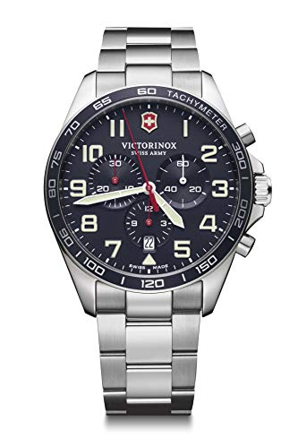 Victorinox Herren Field Force Chronograph - Swiss Made Analog Quarz Edelstahl Uhr 241857