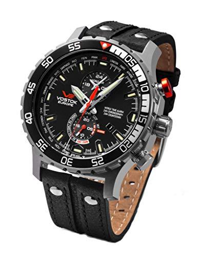 Vostok Europe Herrenuhr Everest Underground Multifunktion Chronograph Alarm Day Date Countdown Timer World Time 597A549